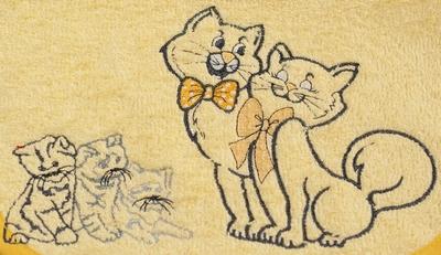 Slab met mouwtjes Katten