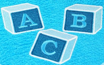 Slab met mouwtjes ABC Blokken