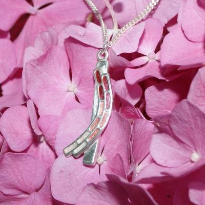 Zilveren hanger Hortensia